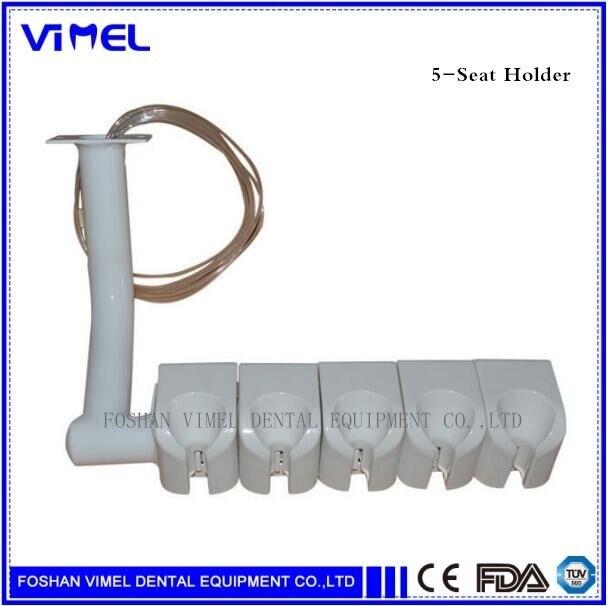 5 tutucu vana diş tek koltuk Handpiece tutucu vana şırınga asılı kutusu ölçekleyici tutucu dişçi sandalyesi ünitesi yedek parçaları