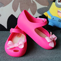 15-18cm girls Sandals 2016 Jelly shoes children sandals girls sandals princess soft bottom fish head bow shoes kids shoes girls