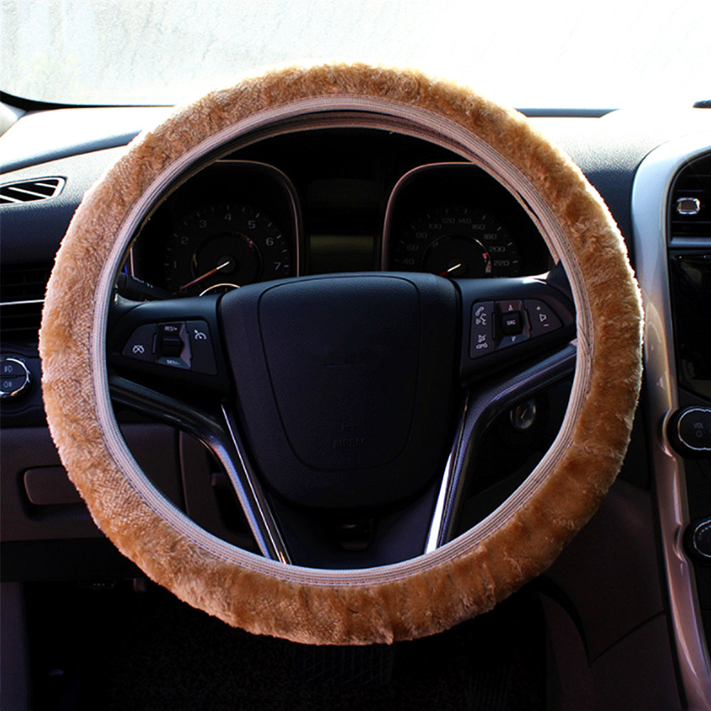 DIY Steering Wheel Covers/Extremely Soft Pluch Braid on the Steering-Wheel Warm Soft Plush Cover Car Interior Accessories New