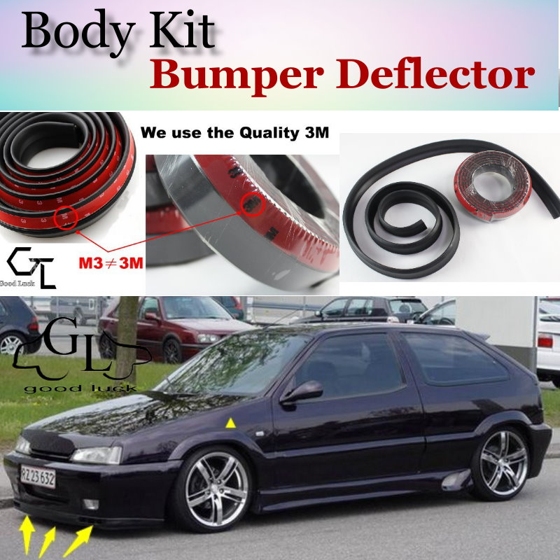 Bumper Lip Deflector Lips For Citroen ZX Front Spoiler Skirt For Car Lip Fans to Car Tuning View / Body Kit / Strip