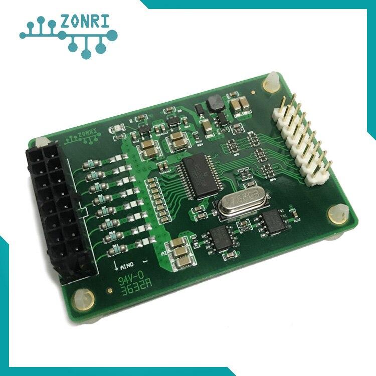 Module d'acquisition de données ADS1256 module d'échantillonnage module ADC 24bit entrée unique/différentielle