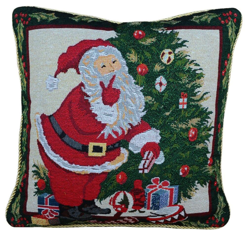Рождество окрашенные хлопка жаккардовые по наволочку/наволочка/Чехлы/Санта F ...