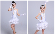 Children's Latin dance competition costume diamond new high-end children's dress Girls Latin dance performance clothing