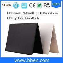freeship Bben windows 10 14.1inch laptop notebook ram 2gb emmc 32gb HDD 500G  intel N3050 cpu labtop computer wifi Bluetooth4.0