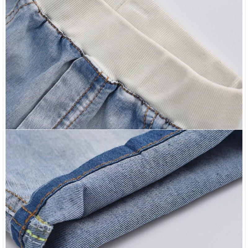2020 hot summer design light blue star print kid short pants boys shorts elegant jeans denim shorts for teen children 3-13 years 5