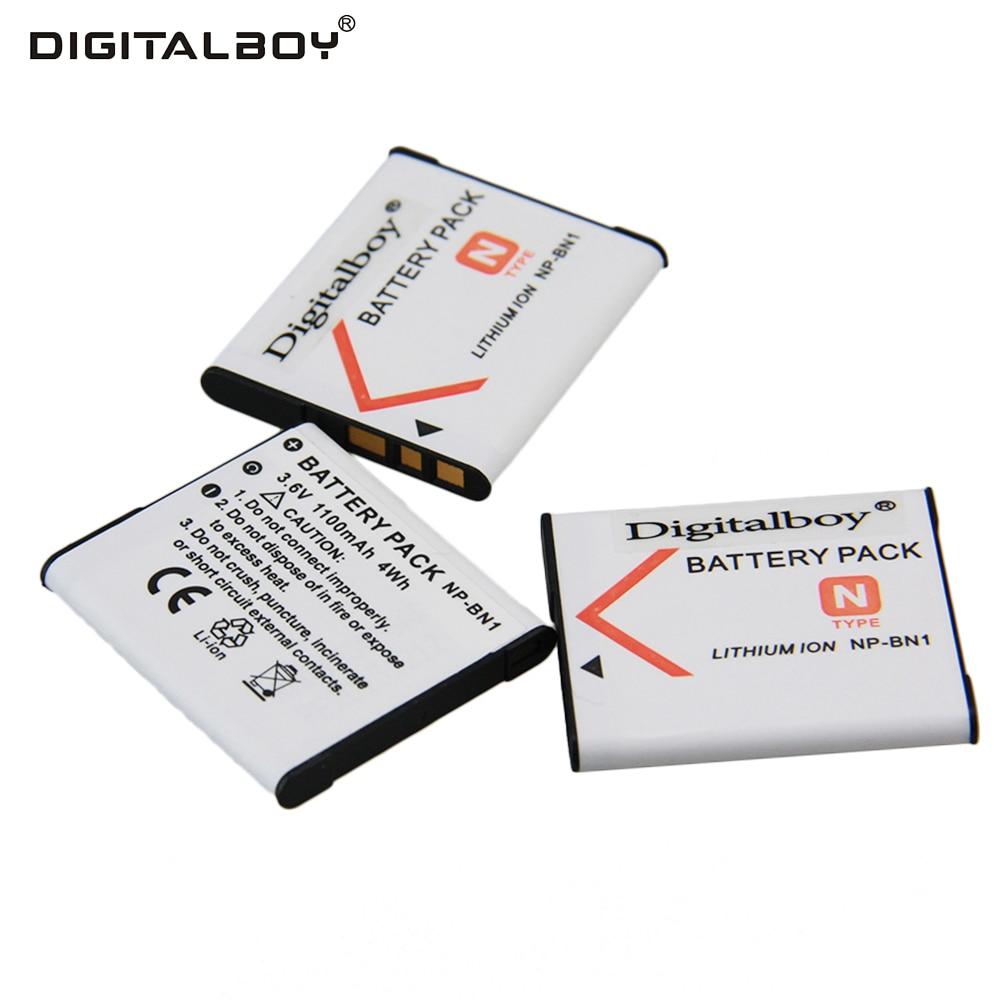 Hot 3PCS NP BN1 NP BN1 NPBN1 Rechargeable Digital Camera Battery ForSony  QX100 TF1 TX7 DSC W320/330/350/360/370/380/W730/W150-in Digital Batteries  from ...