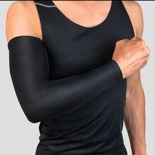 1 шт. дышащая быстросохнущая Защита от ультрафиолетовых лучей рукава для бега баскетбольные налокотники для фитнеса рукавицы для велоспорта