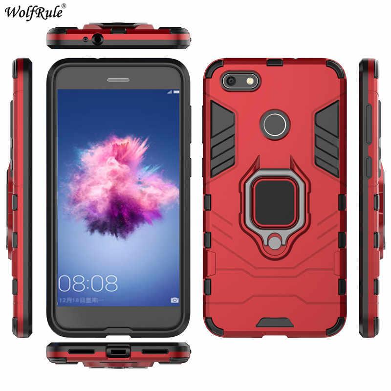 Caso da tampa do Huawei Y6 Pro 2017 Caso Anel Titular Bumper Caixas Para Huawei Caixa Do Telefone Para Huawei Y6 Desfrutar 7 Pro 2017 Tampa 5''