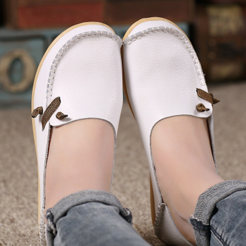 2018 spring women flats shoes casual superstar ladies home slip on shoes for women Soft PU leather red shoes zapatos mujer цена
