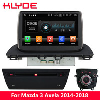 KLYDE 9'' IPS 4G Android 8.0 Octa Core PX5 4GB RAM 32GB ROM Car DVD Multimedia Player Radio Stereo For Mazda 3 Axela 2014 2018