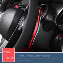Accessories For Toyota Camry 2018 2019 Metal Car Steering Wheel Paddle Extend Shifter Replacement 2pcs zxmt 2pcs carbon fiber interior steering wheel button frame cover for toyota camry 2018 accessories