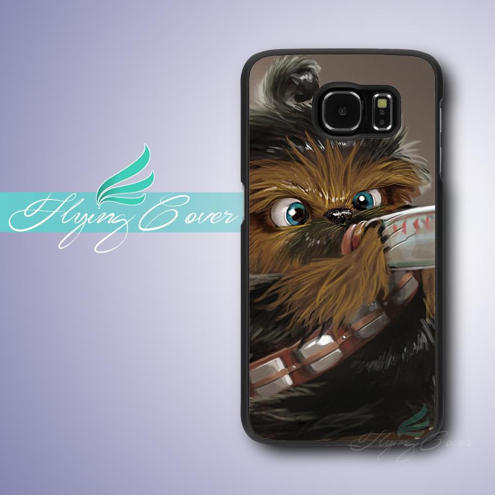 Coque Star Wars Bébé Chewbacca Capa Cas pour Samsung Galaxy S8 Plus S3 S4 S5 S6 S7 Bord Cas pour Samsung Galaxy Note 8 5 4 cas