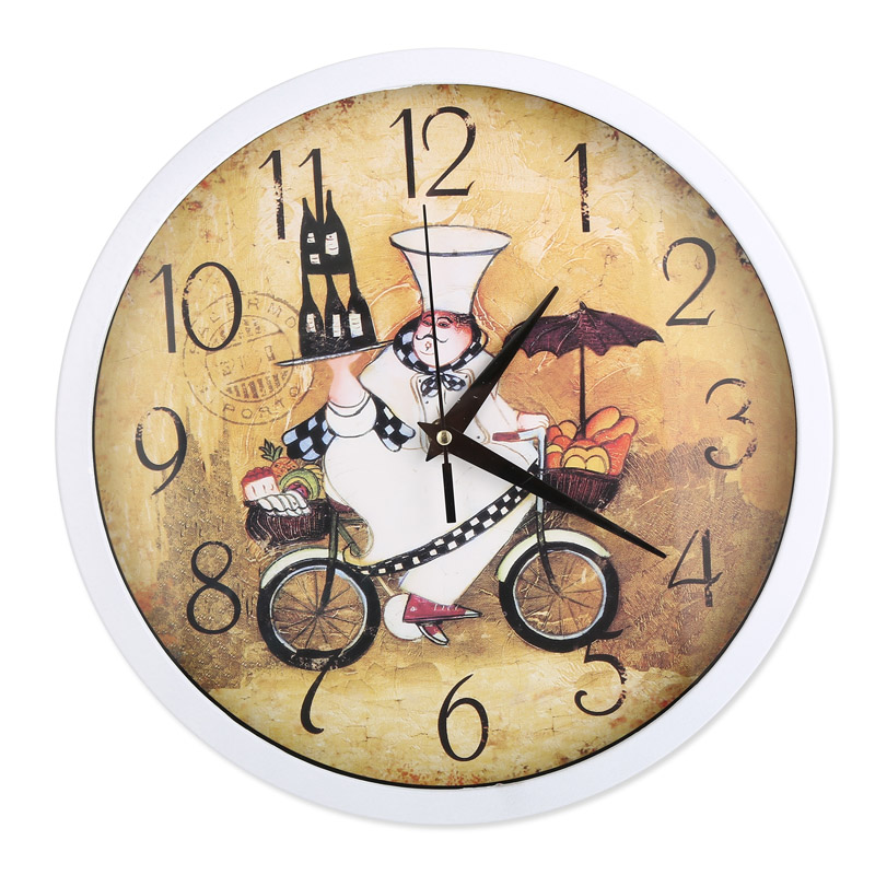 Reloj de pared reloj de pared 12 pulgadas panadero cocina clásica - Decoración del hogar