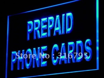 i878 Prepaid Phone Card Shop Mobile LED Neon Light Light Signs On/Off Switch 20+ Colors 5 Sizes image