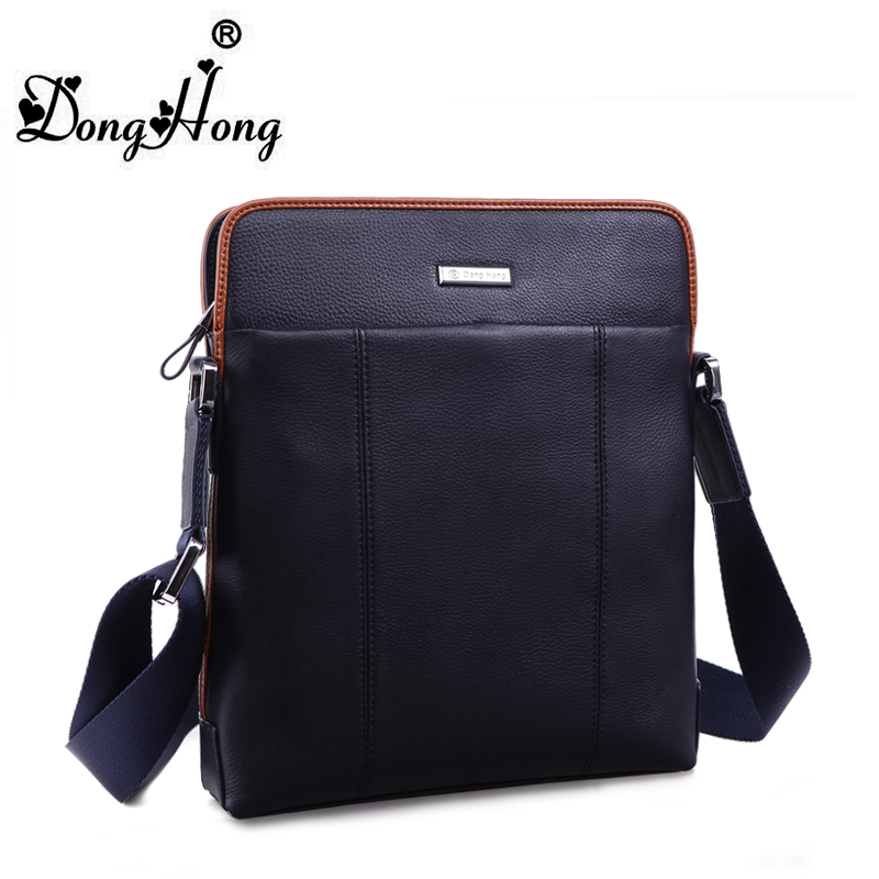 ФОТО DongHong Men messenger bag Men's genuine leather single shoulder bag business bag crossbody briefcase travel bag