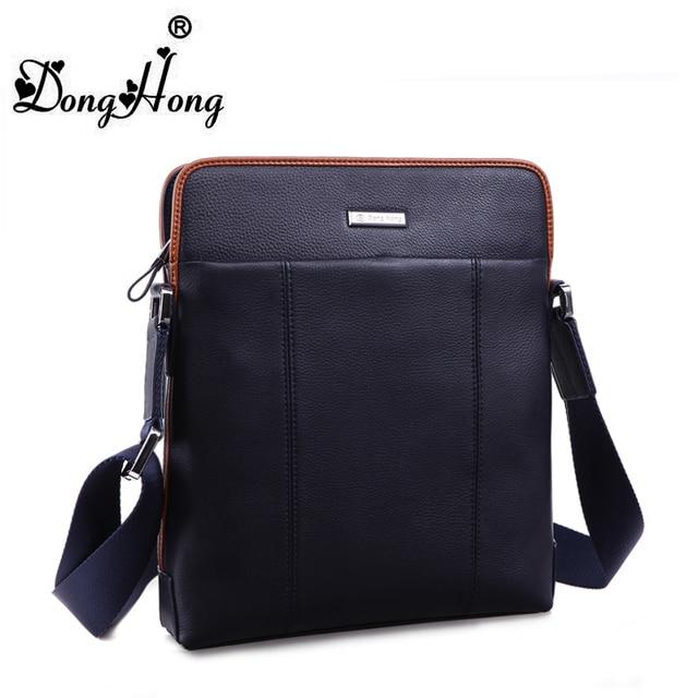 DongHong Men messenger bag Men's genuine leather single shoulder bag business bag crossbody briefcase travel bag