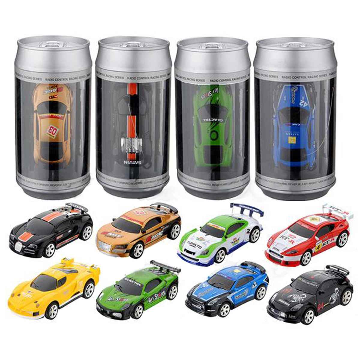 8 kleuren Hot Sales 20 KM/H Coke Can Mini RC Car Radio Remote Control Micro Racing Car 4 Frequenties Speelgoed voor Kinderen