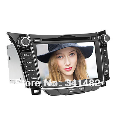 Two Din 7 inch CAR DVD PLAYER WITH GPS FOR HYUNDAI I30 2012- / Hyundai Elantra GT 2012 Radio PIP TV Free Maps  -  Shenzhen TomTop E-commerce Technology Co., Ltd. store