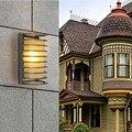 1 PC X Iluminação Moderna Lâmpada de Parede Ao Ar Livre, Liga de alumínio Da Parede Exterior lâmpadas LED, Jardim Varanda lâmpada de Parede Lâmpada de Luz Branca Quente/Branco