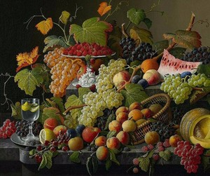 Image 1 - 55 46 Needlework Crafts Embroidery French DMC Quality Counted Cross Stitch Kit Set Oil Painting Still Life of Fruit
