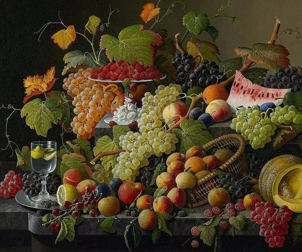 55 46 Needlework Crafts Embroidery French DMC Quality Counted Cross Stitch Kit Set Oil Painting Still Life of Fruit