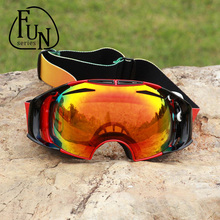 FunSeries Snowboard Goggles Snowing Windproof Professional Ski Goggles Big Spherical Glasses