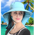 Девушка леди Солнцезащитная рыболовная шляпа уличная 99.9% УФ-блок Защита от солнца Водонепроницаемая Рыбацкая Кепка для пляжа кемпинга путе...