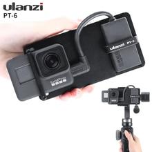 Ulanzi Placa de Vlog PT 6 Gopro con adaptador de micrófono para cardán de 3 ejes Moza Mini S Smooth 4 Vimble 2 Vlogging, funda de Metal para Gopro 7 6