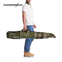 135cm Tactical 1200D Camouflage Gun Case Airsoft Hunting Soft Padded Rifle Gun Storage Bag Bionic Camo