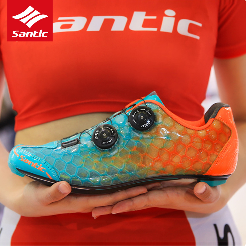 Image 5 - SANTIC Road Bicycle Shoes PRO Athletic Racing Team Cycling Self locking Carbon Fiber Shoes Non slip Breathable Sneakers MS17007road bicycle shoesbicycle shoescarbon fiber shoe -