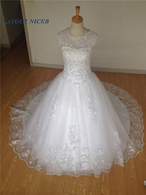Beading Wedding Dresses 2017 Vestido De Noiva Russian Lace Liques Tulle Actual Image Princes Bridal Gowns
