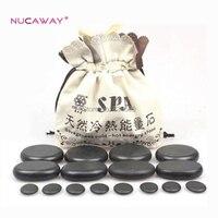 16pcs/set Volcanic stone massage therapy energy stone SPA Beauty Body Care Stone Set
