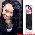 Бесплатная доставка мягкий dread loc косы косы синтетических плетение волос моноволокно мягкая страх нина softex вьющиеся волосы заплетены