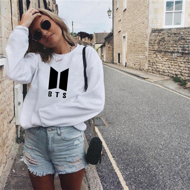 2018 Fashion Army Bts Hoodie Kpop Pullover Sweatshirt Tops Korean
