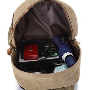Image 5 - Sac à dos Vintage pour hommes, cartable de voyage de grande capacité pour hommes, sacoche pour école à épaule, nouvelle mode, 2020