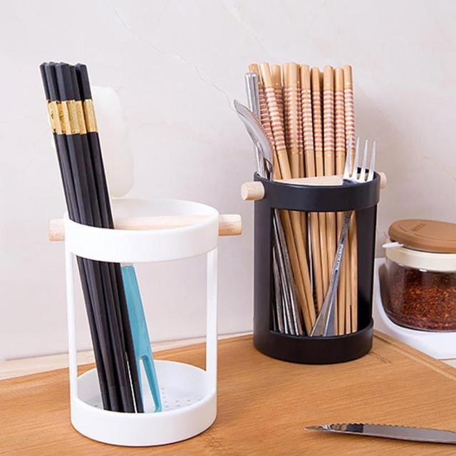 Plastic Chopsticks Tube Tableware Storage Rack Shelves Shovel Spoon Bucket  Knife Fork Storage Box Tableware Utensils