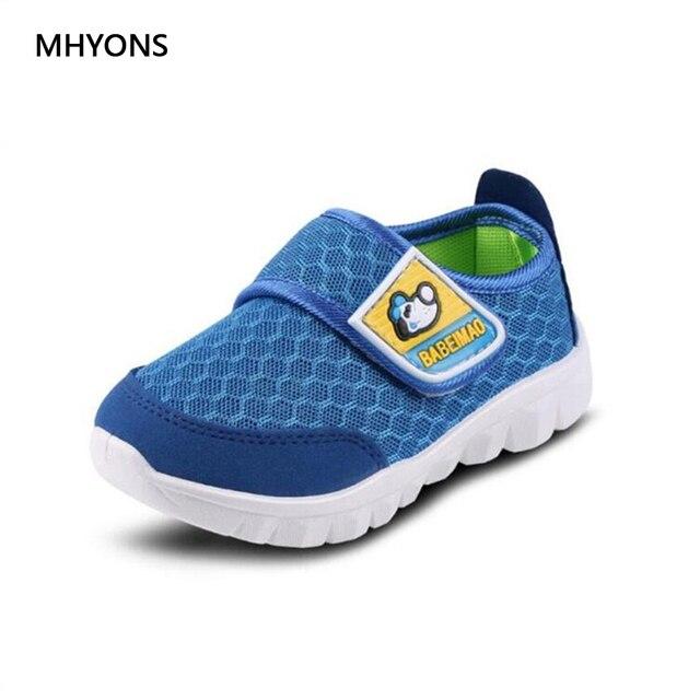 MHYONS 2019 קיץ סגנון ילדי רשת נעלי בנות ובני ספורט נעלי ילדים תחתון רכים נעלי נוחות לנשימה סניקרס S1608
