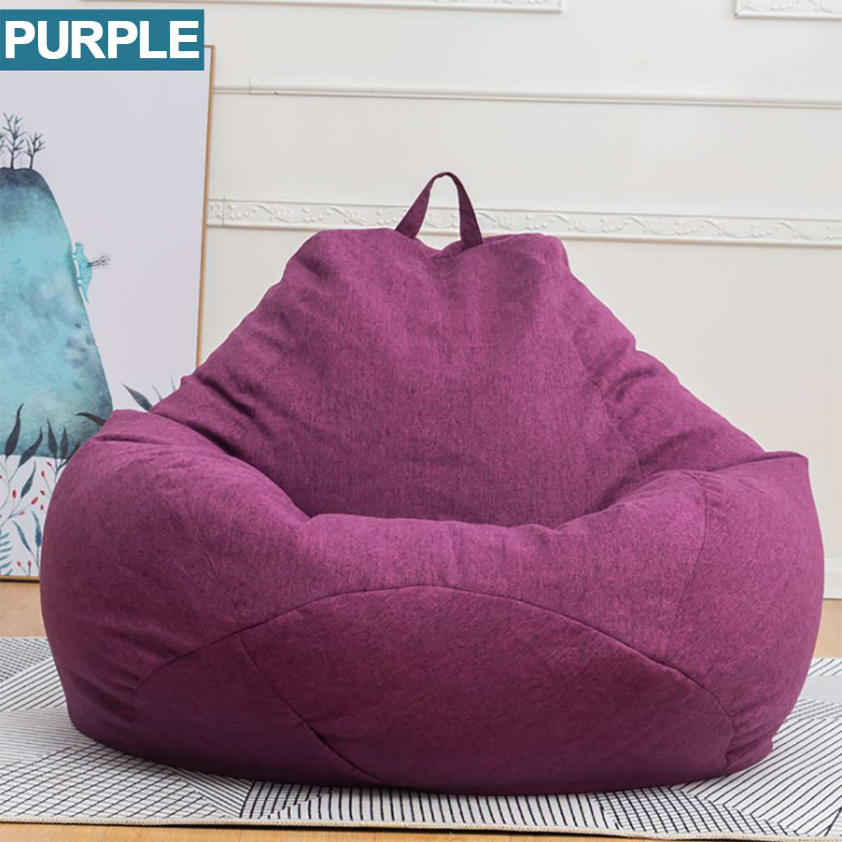Miraculous Us 13 55 43 Off Green Lazy Beanbag Sofas Waterproof Stuffed Animal Storage Toy Bean Bag Solid Color Chair Cover Beanbag Sofas Without Lining In Bean Uwap Interior Chair Design Uwaporg