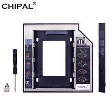 "CHIPAL Universale SATA 3.0 2nd HDD Caddy 12.7 millimetri per 2.5 ""2 TB SSD HDD Enclosure Caso + LED indicatore per il Computer Portatile CD-ROM DVD-ROM DISPARI(China)"