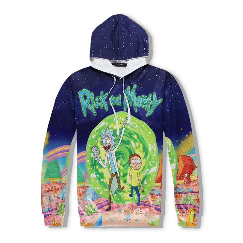 Rick and Morty 3D Hoodies Men and Women Cosplay Harajuku Hooded Sweatshirt 3d Printing Pullover Women Jacket