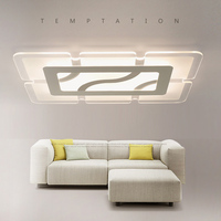 Square Modern Led Ceiling Lights For Bedroom Living Room Foyer Ceiling Lamp Plafonnier Luminarias Lamps Home