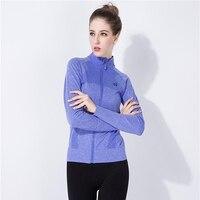 Hot! corpo camisa de compressão calças justas da aptidão das mulheres camisas longas da luva t tops jacket 5 cor