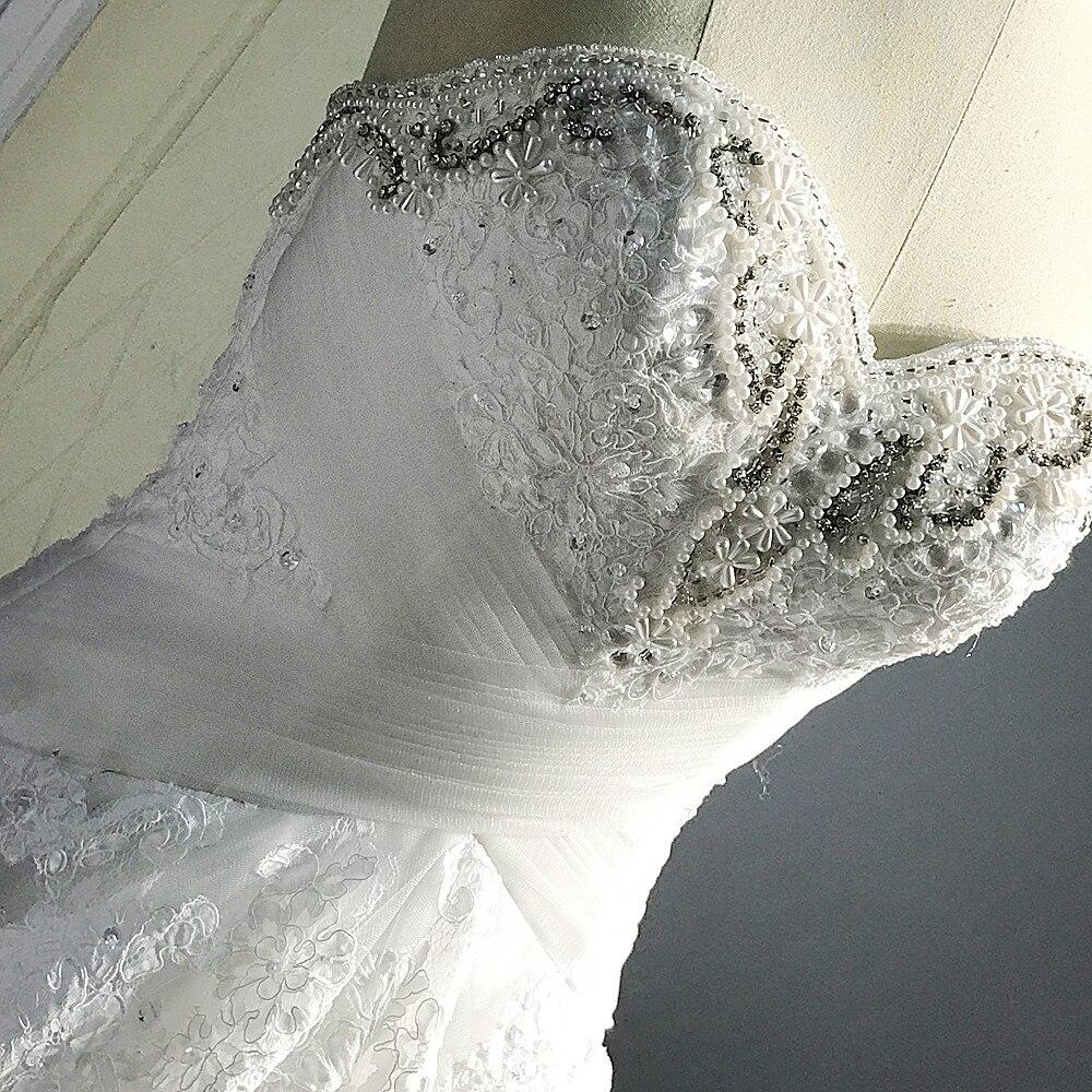 RSW1443 Décolleté en coeur Plissée Conception Tulle Jupe Une Ligne Robe De Mariage De Cru