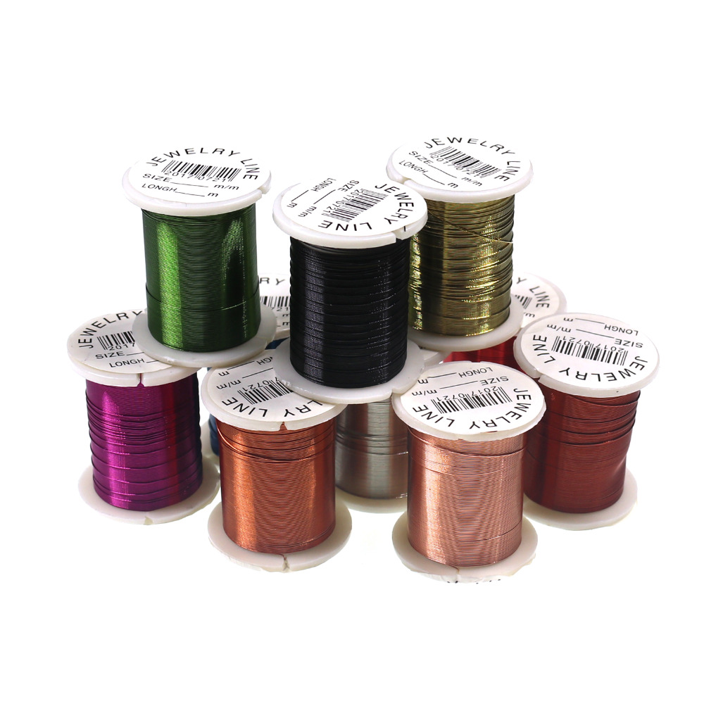 10 Spools 0.3mm X 10m  Fly Nymph Midge Scud Flies Insect Bait Fly Tying Copper Wire Jewelry Line For Copper John