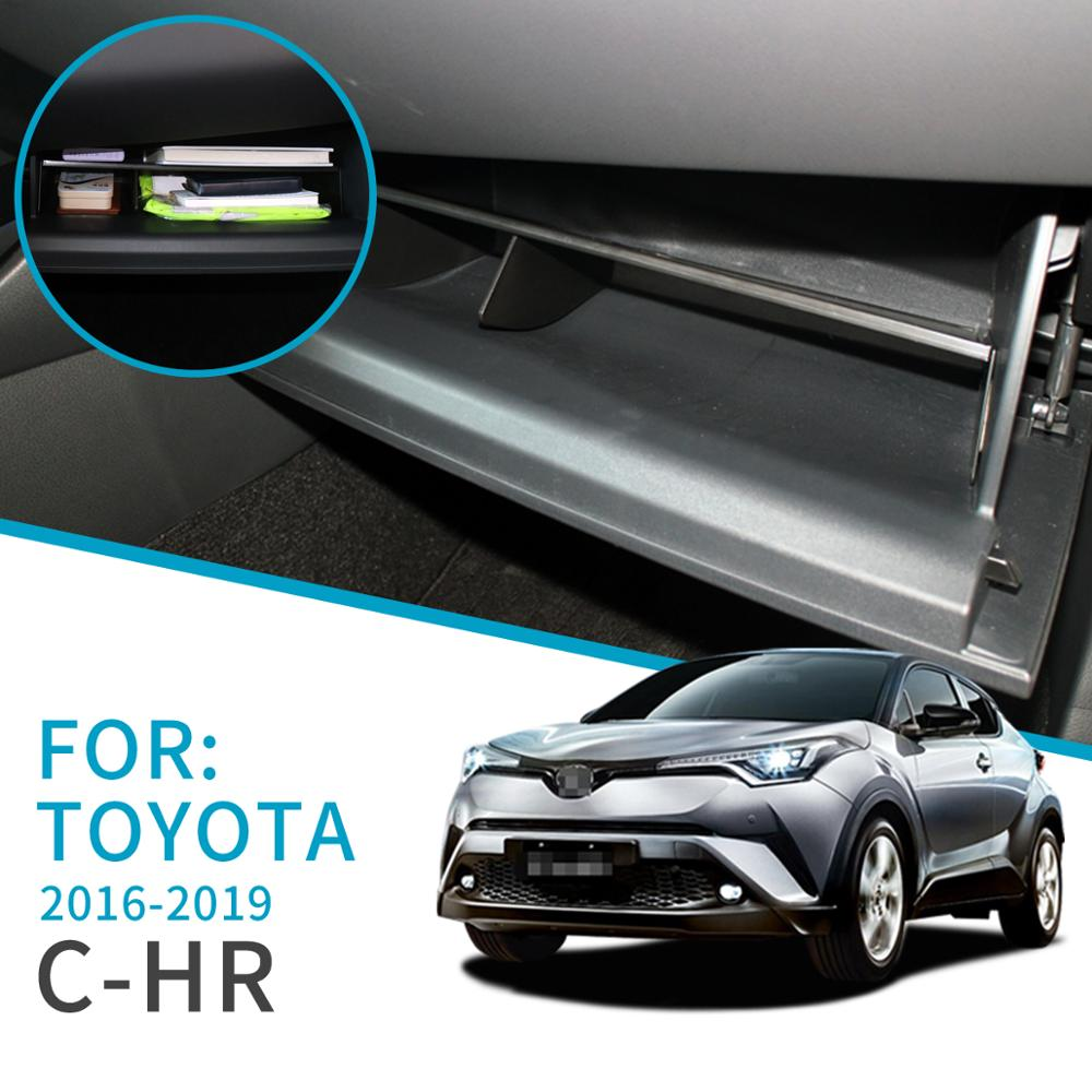 Smabee Car Glove Box Interval Storage  For TOYOTA C-HR 2016 2017 2018 2019 CHR Storage Console Tidying Box Central Storage Box