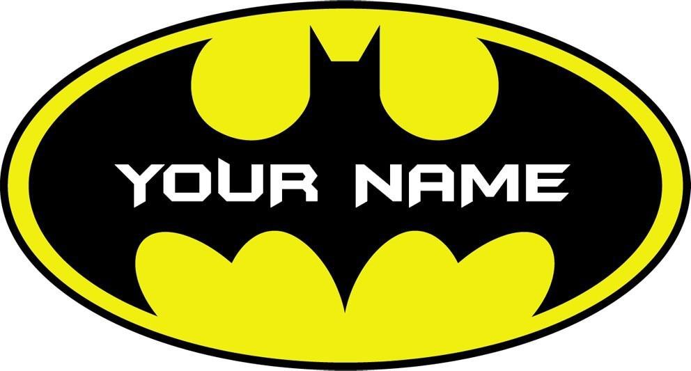 2015 Name Color Customize Batman Logo Wall Sticker Car Decal Home