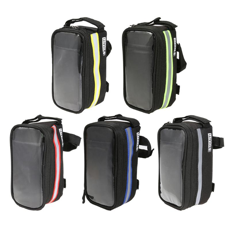 4.8-5.7 Inch Waterproof Touch Screen Bike Bag Front Frame Cell Phone Case Mobile Phone Bag for iPhone 5 5S 6 7 SE Bicycle Case все цены