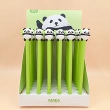 36Pcs/lot Kawaii Panda Animal Gel Pen Cute Stationery 0.5mm Black Ink Pen Kids Gift Promation School Office Supplies недорого