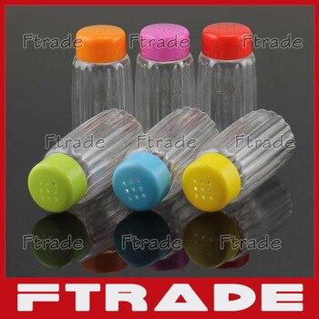70ML PET Eco-Friendly Plastic Spice shaker Pepper Salt Bottles Condiment Jar Container Castor Seasoning 10PCS/Lot