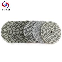 цена на RIJILEI 6Pcs/Set 100mm Dry polishing pad 4